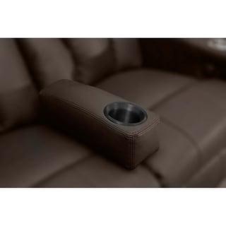 Octane Brown Leather Removable Armrest