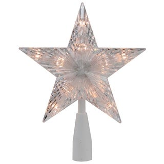 """7"""" Traditional 5-Point Star Christmas Tree Topper - Clear Lights"""