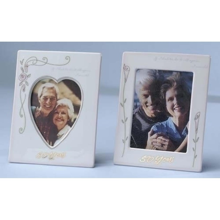 "Roman Set of 2 50th Wedding Anniversary 4""x6"" Photo Frame..."