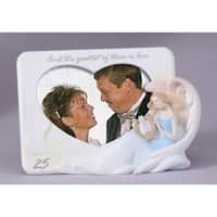 "25th Silver Wedding Anniversary 4""x6"" Photo Picture Frame #11435"
