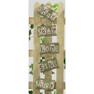 Set of 5 Better Homes & Gardens Inspirational Home Wall Plaques #23582