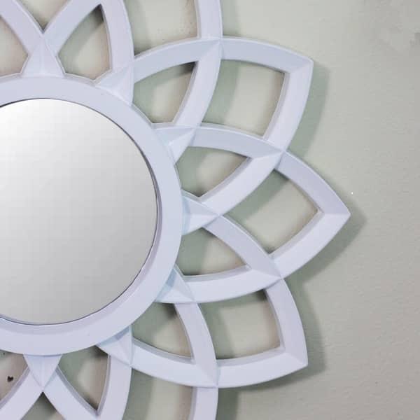 Shop Set Of 3 Floral Arches Matte White Decorative Round