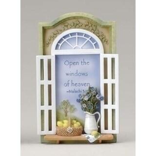 Open The Windows of Heaven Bible Scripture Plaques #40863