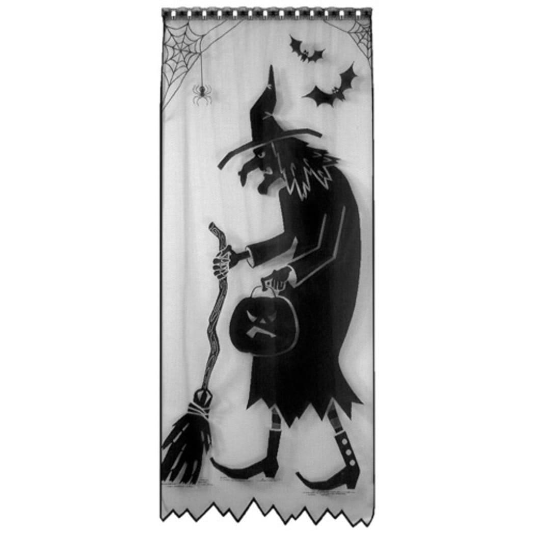 Decorative Black Witch Silhouette Scenic Halloween Door a...