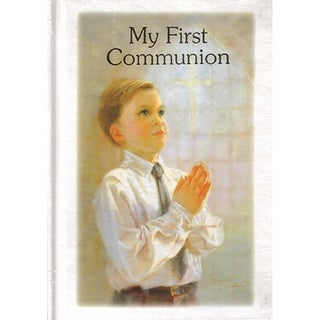 Religious My First Communion Boys Prayer & Remembrance Book Gift #10248