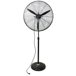"30"" Jet Black Adjustable Height 3-Speed Oscillating Industrial Pedestal Fan|https://ak1.ostkcdn.com/images/products/17958203/P24135210.jpg?impolicy=medium"