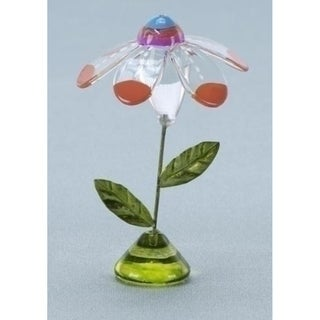 "Set of 6 Glass Flower Orange Petal 4.5"" Figurines - Party Favors #59070"