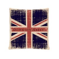 "18"" Downton Abbey British Union Jack Decorative Square Throw Pillow"