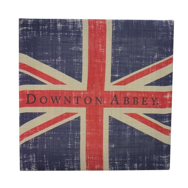 """14.5"""" Downton Abbey British Union Jack Natural Beige Decorative Hanging Wall Art - Brown"""