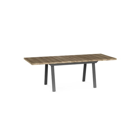 Amisco Kane Metal/ Distressed Wood Top Extendable