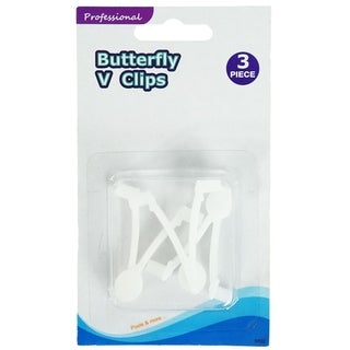 Set of 3 EZ Quick Snap Replacement Butterfly Clips for Swimming Pool Pole Attachments