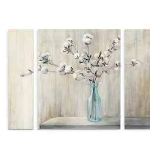 Trademark Fine Art Julia Purinton 'Cotton Bouquet' Large Multi-panel Canvas Art Set