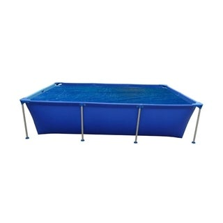 6' Blue Rectangular Floating Solar Cover for Steel Frame Swimming Pool