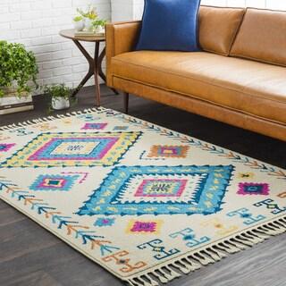 Multicolor Boho Moroccan Tassel Runner Rug (2'7 x 10')