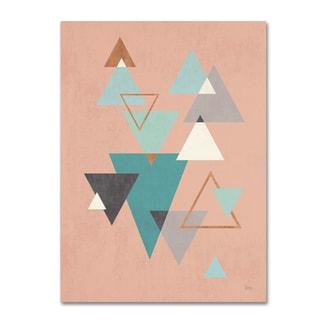 Veronique Charron 'Abstract Geo II Pink' Canvas Art