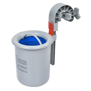 "9.5"" Wall Mounted Swimming Pool Surface Skimmer with Adjustable Hook - grey"
