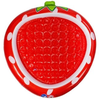 """37"""" Red Inflatable Strawberry Kiddie Swimming Pool https://ak1.ostkcdn.com/images/products/17958565/P24135637.jpg?impolicy=medium"""
