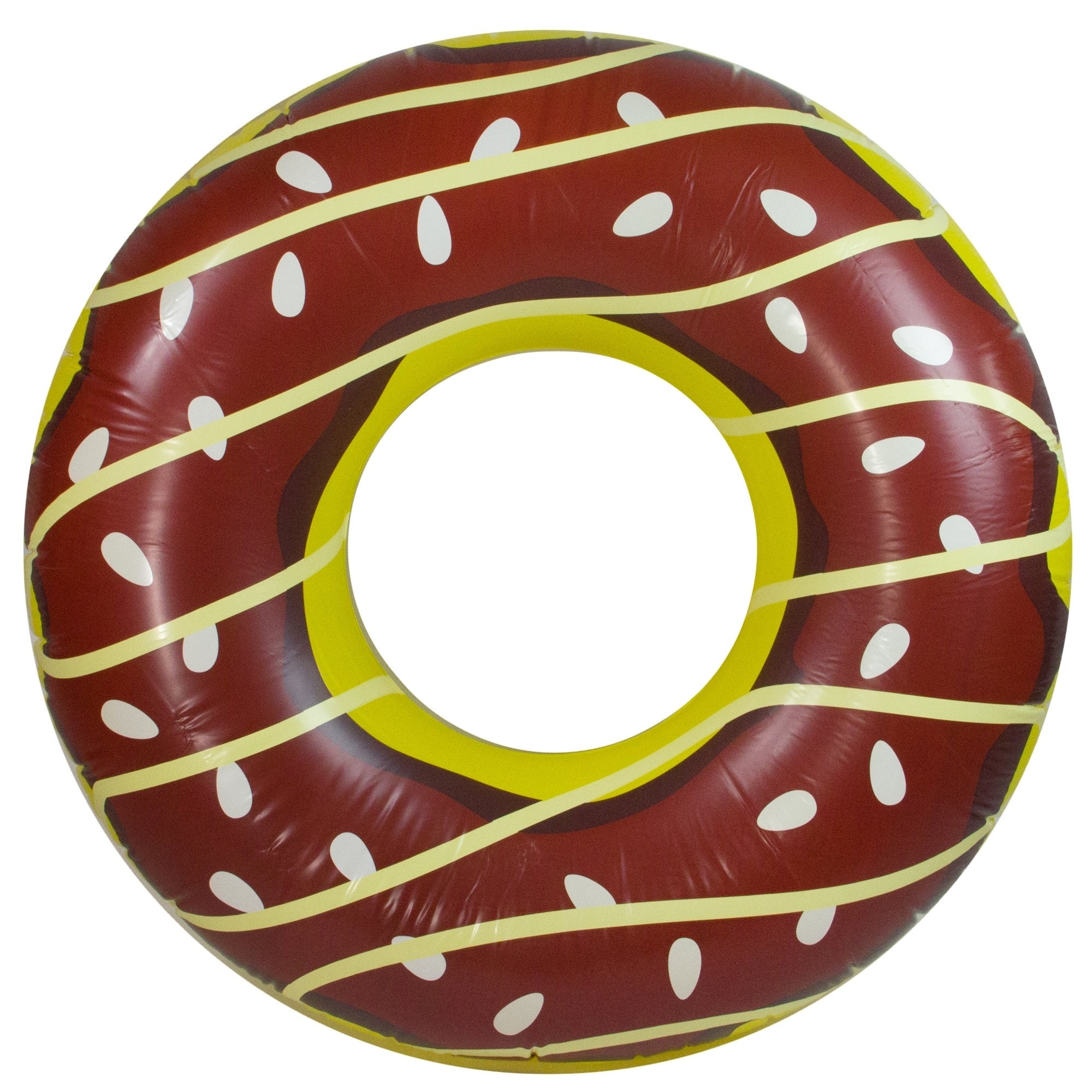 """49"""" Jumbo Chocolate Frosted Doughnut Inflatable Swimming ..."""