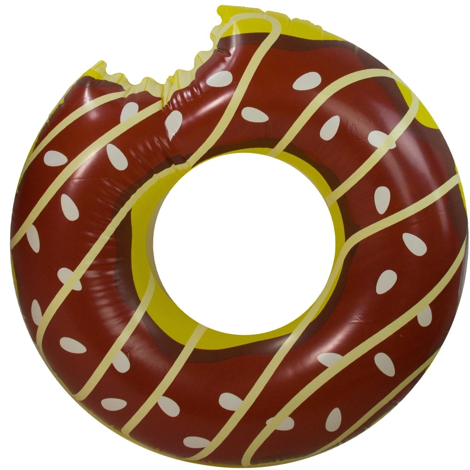 """49"""" Jumbo Chocolate Frosted Bitten Doughnut Inflatable In..."""