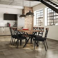 Carbon Loft Prescoft Metal Chairs and Table Dining set