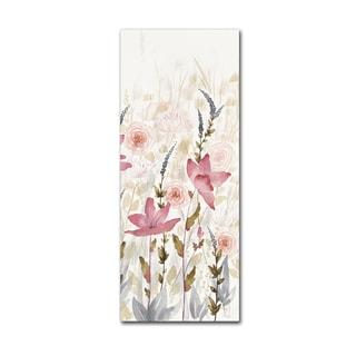 Elyse DeNeige 'Watercolor Garden III Light' Canvas Art