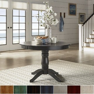 Superbe Wilmington II Round Pedestal Base Dining Table By INSPIRE Q Classic