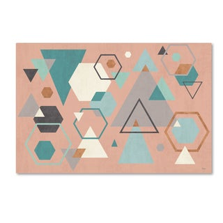 Veronique Charron 'Abstract Geo I Pink' Canvas Art