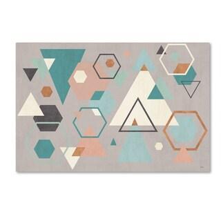 Veronique Charron 'Abstract Geo I Gray' Canvas Art