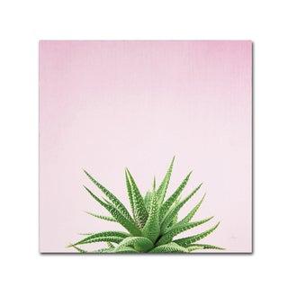 Felicity Bradley 'Succulent Simplicity I on Pink' Canvas Art