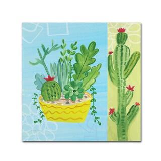 Farida Zaman 'Cacti Garden IV no Birds' Canvas Art