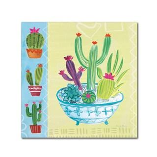 Farida Zaman 'Cacti Garden III no Birds' Canvas Art