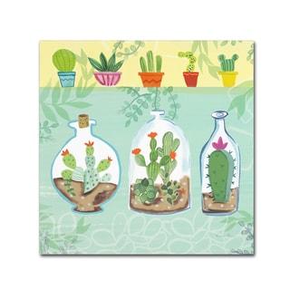 Farida Zaman 'Cacti Garden I no Birds' Canvas Art