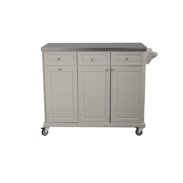 Sunjoy Buckhead Gray Kitchen Cart