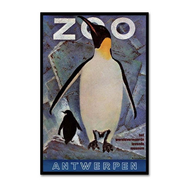 Vintage Lavoie 'The Zoo 5' Canvas Art