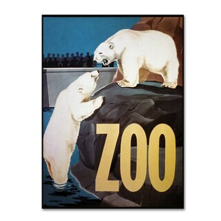 Vintage Lavoie 'The Zoo 3' Canvas Art
