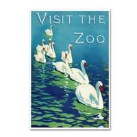 Vintage Lavoie 'The Zoo 2' Canvas Art