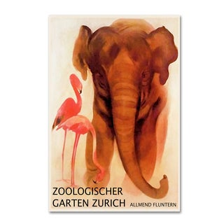Vintage Lavoie 'The Zoo 1' Canvas Art