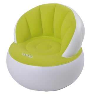 33.5 Lime Green and White Decorative Indoor Inflatable Adult Armchair