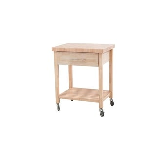 SJ Collection All Wood Kitchen Cart