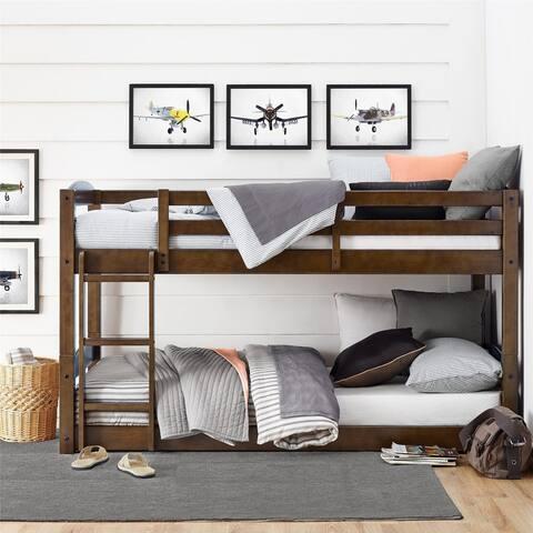 Avenue Greene Nola Mocha Twin Floor Bunk Bed