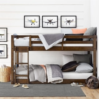 Link to Avenue Greene Nola Mocha Twin Floor Bunk Bed Similar Items in Kids' & Toddler Furniture