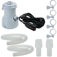 300 Gallon Above Ground Swimming Pool Filter Pump - grey