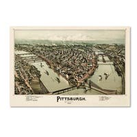 Vintage Lavoie 'Pittsburgh Pennsylvania' Canvas Art