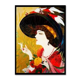 Vintage Lavoie 'De Feure Smoking Woman Iv' Canvas Art