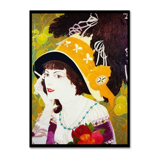 Vintage Lavoie 'De Feure Smoking Woman Iii' Canvas Art