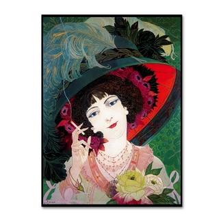 Vintage Lavoie 'De Feure Smoker Portrait I' Canvas Art