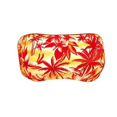 Hawaiian Summer Girl Bandeau Halter Swim Top Size Large