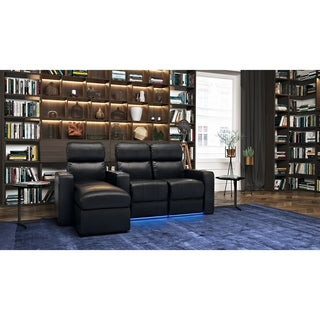 Octane Turbo XL700 Power Leather Theater Seating with Reclining Chaise