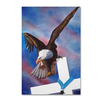 Geno Peoples 'Eagle' Canvas Art