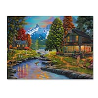 Geno Peoples 'Going to the Sun View' Canvas Art